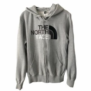 The North Face Grey Zip Up Sweater Small